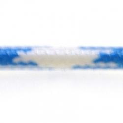 Koord, rond, lichtblauw/wit, 4 mm (1 mtr.)