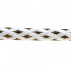 Koord, rond, wit/zwart, 3 mm (1 mtr.)