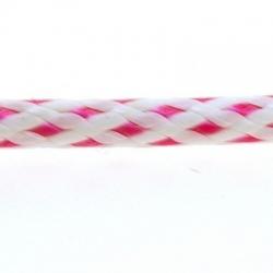 Koord, rond, wit/roze, 3 mm (1 mtr.)