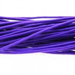 Koord elastiek 2mm paars (10 meter)