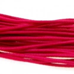 Koord elastiek 2mm fuchsia (10 meter)