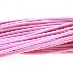 Koord elastiek 2mm lichtroze (10 meter)