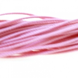 Koord elastiek, lichtroze, 1 mm (1 meter)