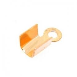 Veterklem roségoud recht glad 4 mm (25 st.)