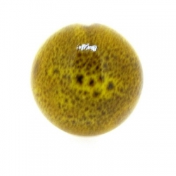 Keramiek kraal, rond, mosterdgeel, 28 mm (3 st.)