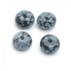 Snowflake Obsidian kraal disc 4 x 6 mm (10 st.)