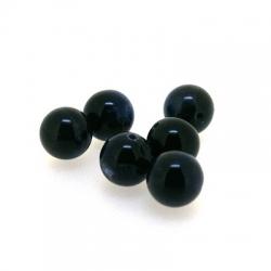 Gekleurd steen kraal, rond, donkerblauw, 8 mm (15 st.)