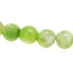 Gekleurd Halfedelsteen kraal, rond, groen, 4 mm (streng)