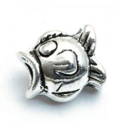 Metaal kraal, vis, zilver, 14 mm (3 st.)
