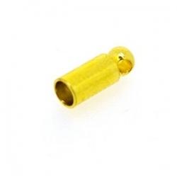 Eindkapje, goud, rond, 6 mm, binnenmaat 2 mm (10 st.)
