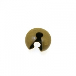 Knijpkraalverberger, antique goud, 4 mm (25 st.)