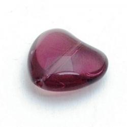 Glaskraal, hart, paars, 14 mm (10 st.)