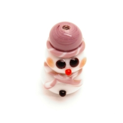 Handgemaakte kerstkraal paars (1 st.)