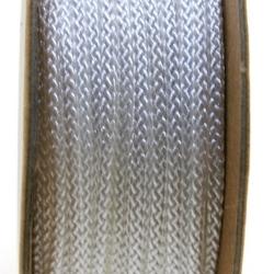 Shamballa draad, wit, 2 mm (ca. 12 mtr.)