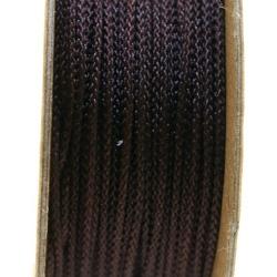 Shamballa draad, donkerbruin, 1 mm (ca. 12 mtr.)