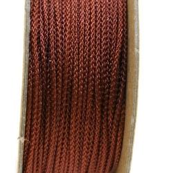 Shamballa draad, donkerbruin, 2 mm (ca. 12 mtr.)
