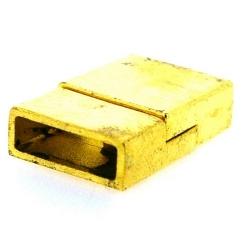 Magneetslot, goud, 24 x 15 mm, binnenmaat 13 x 4 mm (2 st.)