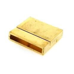 Magneetslot, goud, 22 x 24 mm, binnenmaat 21 x 3 mm (2 st.)