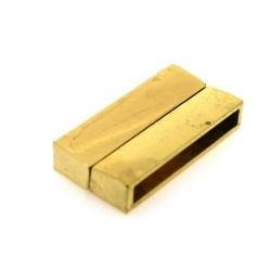 Magneetslot, goud, 19 x 38 mm, binnenmaat 34 x 4 mm (2 st.)