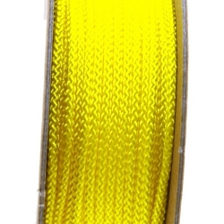 Shamballa draad, geel, 2 mm (ca. 12 mtr.)