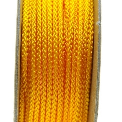 Shamballa draad, lichtoranje, 2 mm (ca. 12 mtr.)