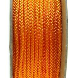 Shamballa draad, oranje, 2 mm (ca. 12 mtr.)