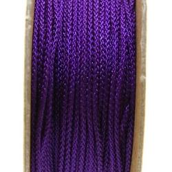 Shamballa draad, paars, 1 mm (ca. 12 mtr.)
