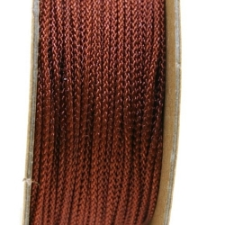 Shamballa draad, bruin, 1 mm (ca. 12 mtr.)