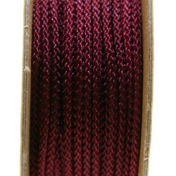 Shamballa draad, donkerrood, 2 mm (ca. 12 mtr.)