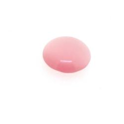 Cabochon/plaksteen, glas, catseye, rond, roze, 12 mm (5 st.)