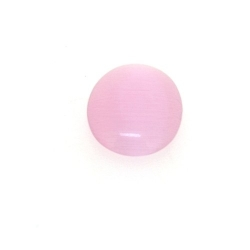 Cabochon/plaksteen, glas, catseye, ovaal, roze, 16 x 12 mm (5 st.)