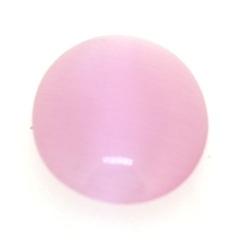 Cabochon/plaksteen, glas, catseye, ovaal, roze, 18 x 13 mm (5 st.)