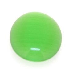 Cabochon/plaksteen, glas, catseye, ovaal, groen, 18 x 13 mm (5 st.)