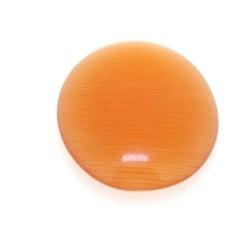 Cabochon/plaksteen, glas, catseye, ovaal, oranje, 18 x 13 mm (5 st.)