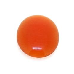 Cabochon/plaksteen, glas, catseye, ovaal, oranje, 25 x 18 mm (3 st.)