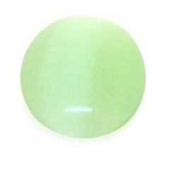 Cabochon/plaksteen, glas, catseye, ovaal, groen, 25 x 18 mm (3 st.)
