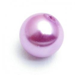 Glasparel, rond, roze, 14 mm (10 st.)