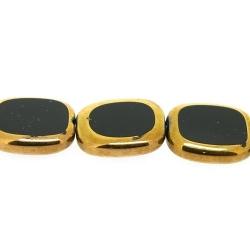 Framed kaal, goud, rechthoek, zwart, 14 x 12 mm (1 streng)