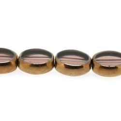 Framed kaal, goud, ovaal, paars, 12 x 10 mm (1 streng)
