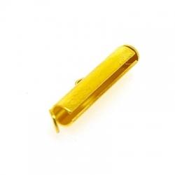 Metaal, schuifslotje, goud, 22 mm (3 st.)
