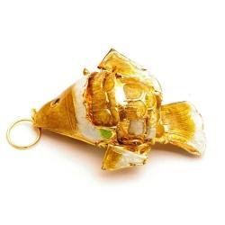 Hanger, cloissone, vis, goud, 54 mm (1 st.)