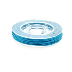 Waxkoord, turquoise, 1 mm (5 meter)