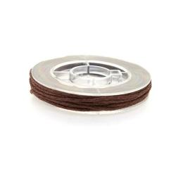Waxkoord, donkerbruin, 1 mm (5 meter)