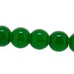 Glaskraal, rond, groen, 8 mm (streng)