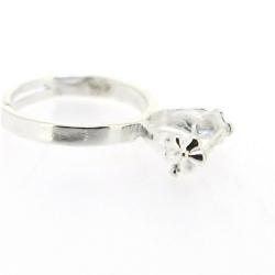 Ring, verstelbaar, zilver (1 st.)