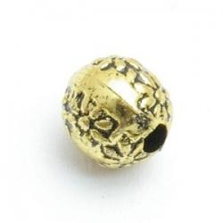 Metallook kraal rond goud 10mm (10 st.)