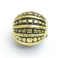 Metallook kraal, rond, goud, 12 mm (10 st.)