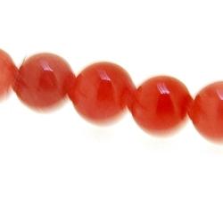 Gekleurd steen kraal, rond, cerise, 5 mm (streng)
