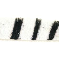 Bontje, wit/zwart, Zebra, 10 mm (60 cm)