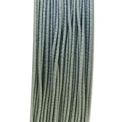 Koord elastiek, muisgrijs, 0.5 mm (10 meter)
